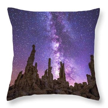 Mono Skies Throw Pillow by Tassanee Angiolillo