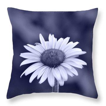 Monochrome Aster Throw Pillow by Sonali Gangane
