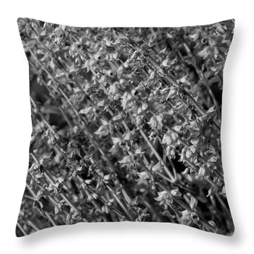 Silver Seed Throw Pillow