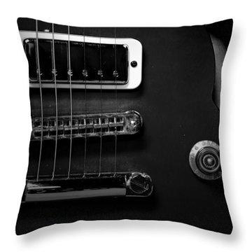 Monochrome Yamaha 3 Throw Pillow by David Weeks