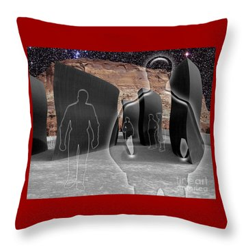 Monoliths For The Empty People Throw Pillow by Keith Dillon