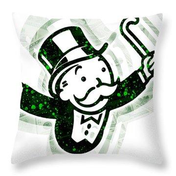 Monopoly Man Throw Pillow