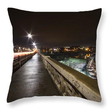 Monroe Street View - Spokane Throw Pillow