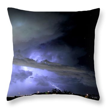 Monsoon Lightning Throw Pillow