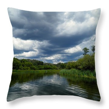 Monsoon Sky Throw Pillow by Feva  Fotos
