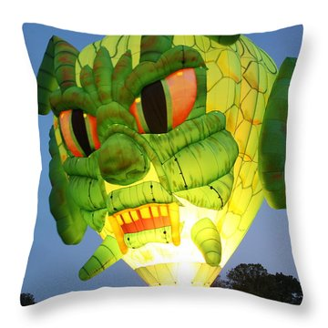 Monster Balloon Throw Pillow by Richard Engelbrecht