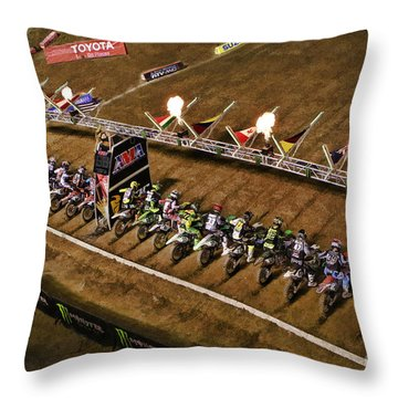 Monster Energy Ama Supercross  450sx Main Throw Pillow