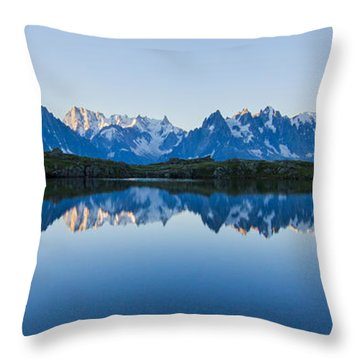Mont Blanc Massif Panorama Throw Pillow