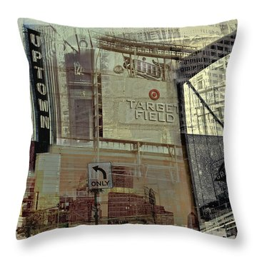 Montage Of Minneapolis Throw Pillow