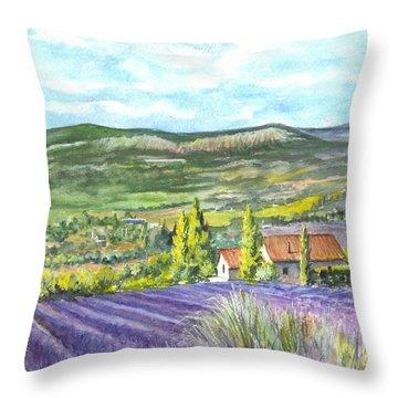 Montagne De Lure En Provence Throw Pillow by Carol Wisniewski