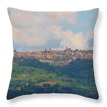 Montalcino Throw Pillow by Marilyn Dunlap