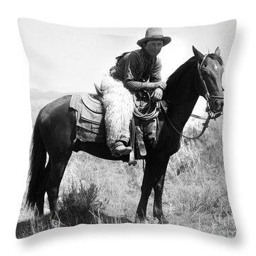 Montana Cowboy 1904 Throw Pillow by Granger