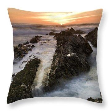 Montana De Oro Sunset 1 Throw Pillow