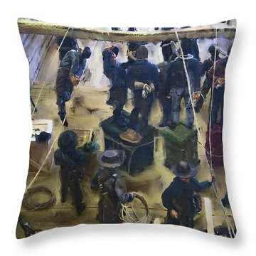 Montana Justice   January 14 1864 Throw Pillow by Daniel Hagerman