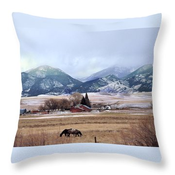Montana Ranch - 1 Throw Pillow