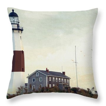 Montauk Dusk Throw Pillow by Keith Armstrong