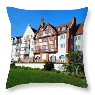 Montauk Manor Throw Pillow by Ed Weidman