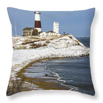 Montauk Snow Throw Pillow