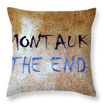 Montauk-the End Throw Pillow by Ed Weidman