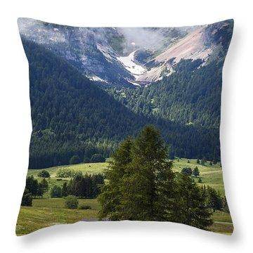 Monte Bondone Throw Pillow