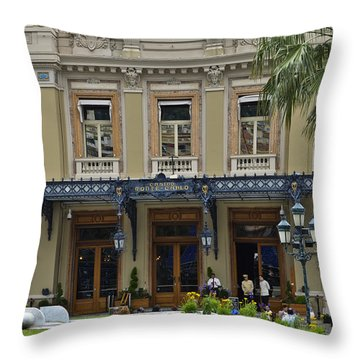 Throw Pillow featuring the photograph Monte Carlo Casino by Allen Sheffield