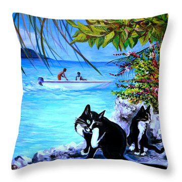 Montego Bay. Part One Throw Pillow by Anna  Duyunova