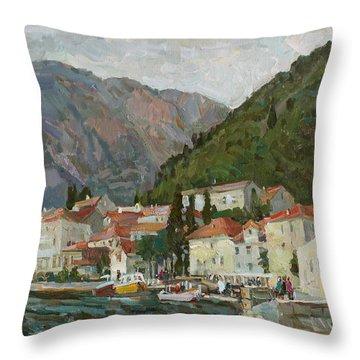 Montenegrin Venice Throw Pillow