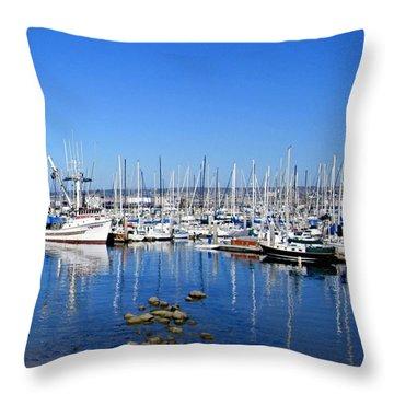Monterey-7 Throw Pillow by Dean Ferreira