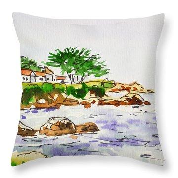 Monterey- California Sketchbook Project Throw Pillow by Irina Sztukowski