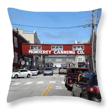 Monterey Cannery Row California 5d25027 Throw Pillow