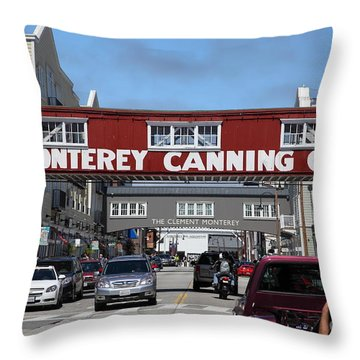 Monterey Cannery Row California 5d25029 Throw Pillow