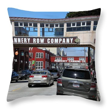 Monterey Cannery Row California 5d25031 Throw Pillow