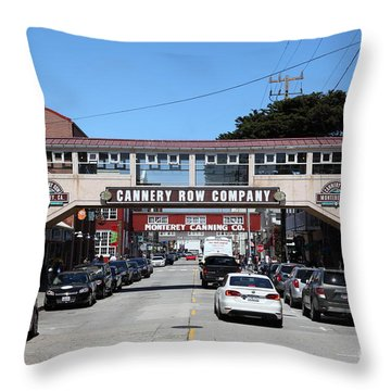 Monterey Cannery Row California 5d25032 Throw Pillow