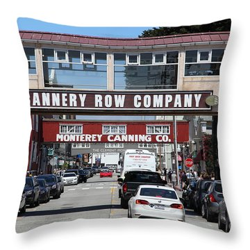 Monterey Cannery Row California 5d25034 Throw Pillow