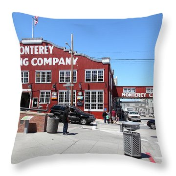 Monterey Cannery Row California 5d25037 Throw Pillow