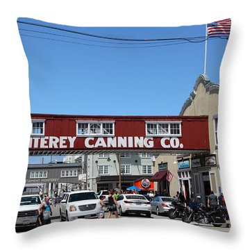 Monterey Cannery Row California 5d25038 Throw Pillow