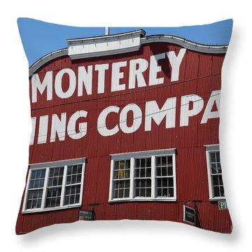Monterey Cannery Row California 5d25039 Throw Pillow
