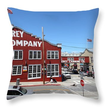 Monterey Cannery Row California 5d25042 Throw Pillow