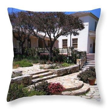 Monterey City Hall Throw Pillow