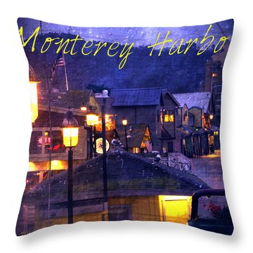 Monterey Harbor Throw Pillow