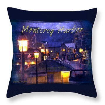 Monterey Harbor Throw Pillow