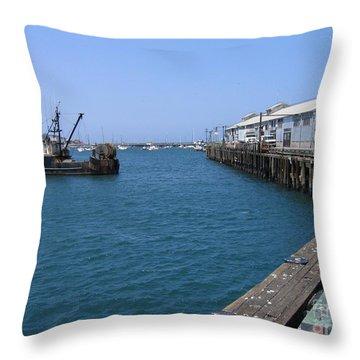 Monterey Municipal Wharf Throw Pillow