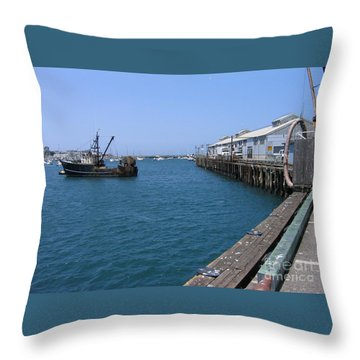 Monterey Municipal Wharf Throw Pillow