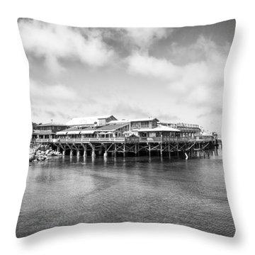 Monterey Old Fisherman's Wharf Throw Pillow