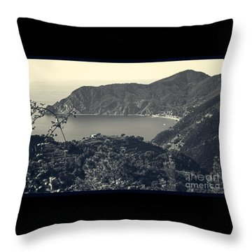 Monterosso Al Mare From Above Throw Pillow
