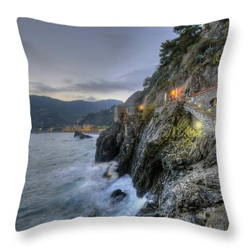 Monterosso At Sunset Throw Pillow
