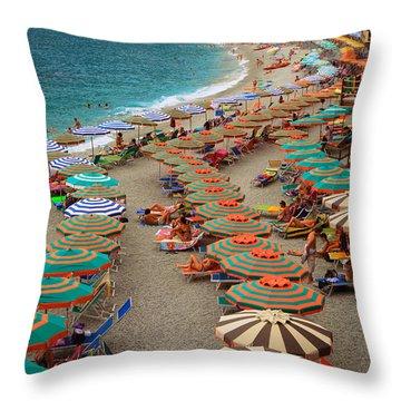 Monterosso Beach Throw Pillow