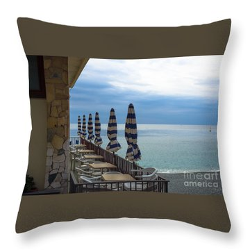 Monterosso Outdoor Cafe Throw Pillow