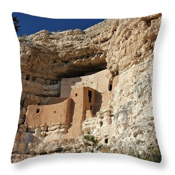 Throw Pillow featuring the photograph Montezuma Castle by Penny Meyers