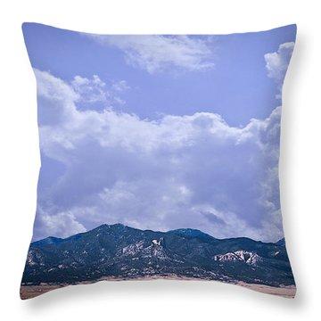 Montezuma County Landmark Throw Pillow